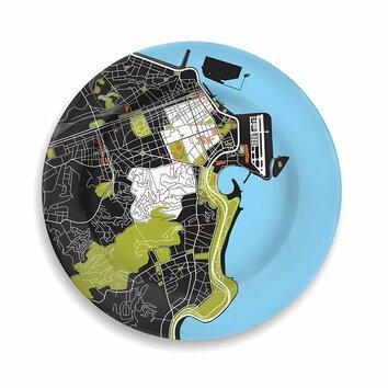 Notneutral city on a plate 12 rio de janeiro dinner plate 01470925