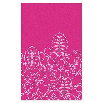 Notneutral Season White Pink Area Rug Allmodern