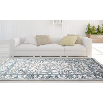 Reaction Ivory Blue Area Rug Wayfair