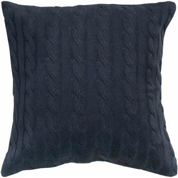 Throw Pillow Button Closure : Wildon Home Cable Knit Wooden Button Closure Throw Pillow Birch Lane