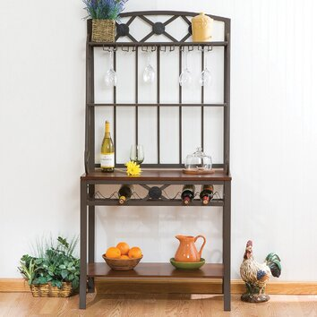 Wildon Home Marabella Decorative Baker 39 S Rack With Wine Storage Reviews Wayfair