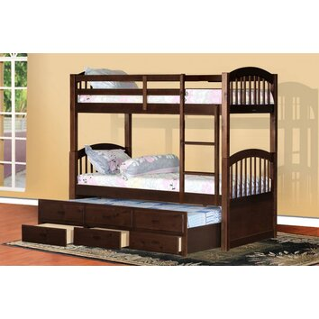 Arthur Twin Bunk Bed With Trundle And Storage Wayfair