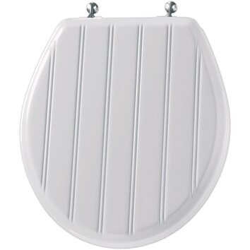 Molded Wood Cottage Classic Round Toilet Seat Wayfair