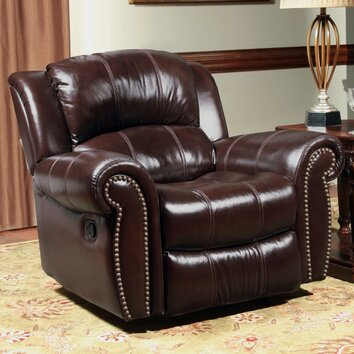 Poseidon Leather Glider Recliner Wayfair