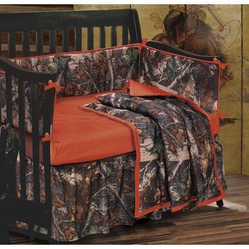 Camo 4 piece crib bedding set wayfair for Camo chaise lounge