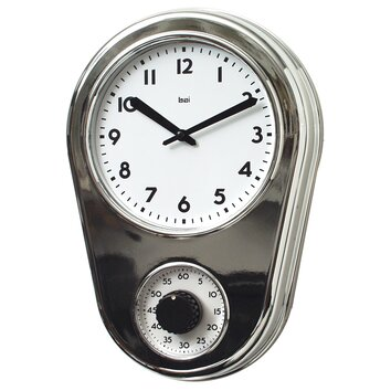 Bai Design 8 5 Kitchen Timer Retro Modern Wall Clock Allmodern