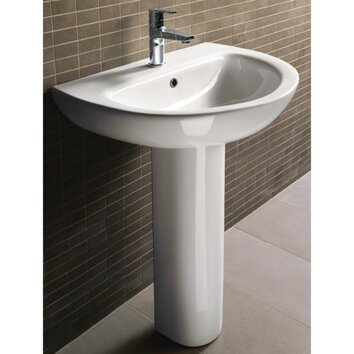 City Modern Curved Pedestal Sink Wayfair
