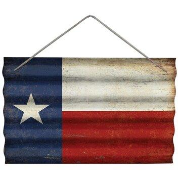 Texas Flag Corrugated Wall D 233 Cor Wayfair