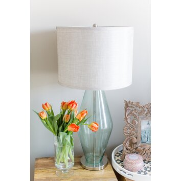 Beachcrest Home Mykonos 31 Quot H Table Lamp With Drum Shade