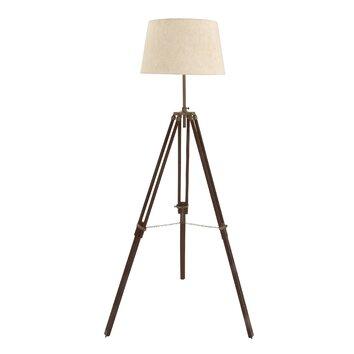 78quot tripod floor lamp wayfair for Wayfair wood floor lamp