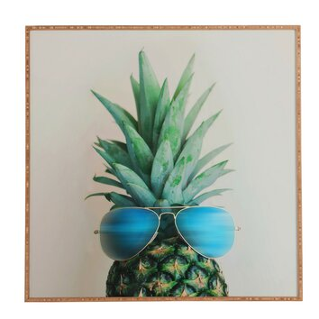 Pineapple In Paradise By Chelsea Victoria Framed