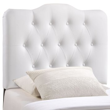 Modway annabel upholstered headboard reviews wayfair for Annabelle chaise