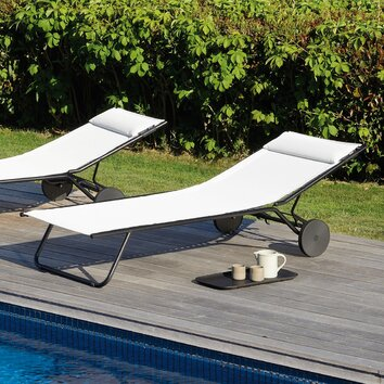 Lafuma miami chaise lounge allmodern for Chaise longue pliante lafuma