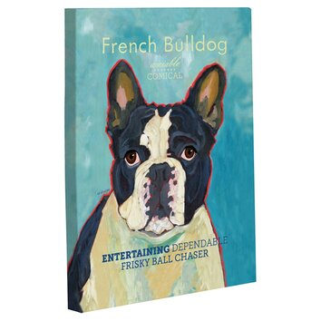 One Bella Casa Doggy Decor French Bulldog 2 Painting Print