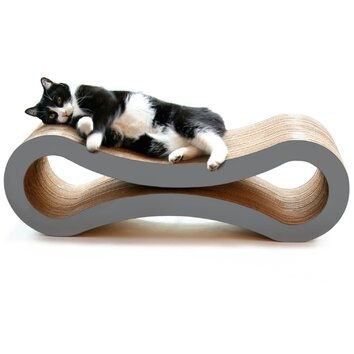 Petfusion ultimate cat scratcher lounge and bed allmodern for Chaise lounge cat scratcher