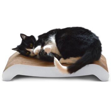Petfusion reversible curve cat scratcher reviews wayfair for Chaise lounge cat scratcher
