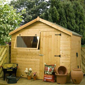 Mercia Garden Products 8 x 6 Shiplap Reverse Apex Wooden ...