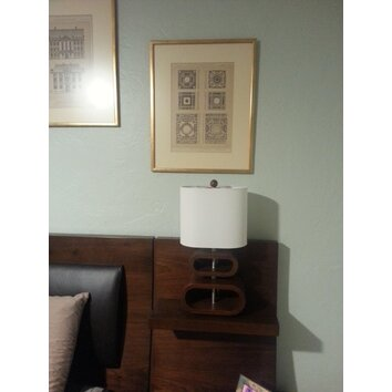 Adesso Merrimac 19 5 Quot H Table Lamp With Drum Shade Allmodern
