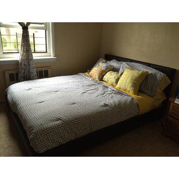 Wholesale Interiors Baxton Studio Queen Upholstered Platform Bed Allmodern