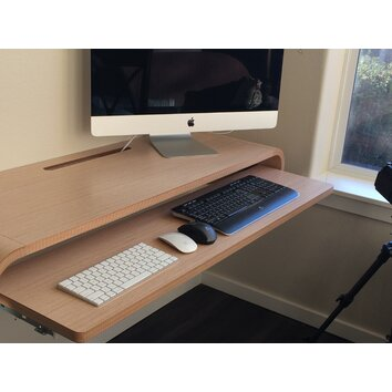 Orange22 minimal large floating desk allmodern - Orange floating desk ...