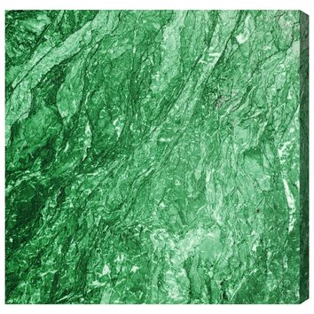 Oliver Gal Earth Stone Emerald Painting Print On Wrapped