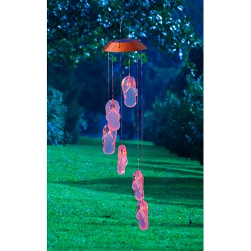 Evergreen Flag Amp Garden Get Beachy Wind Chime With It Flip