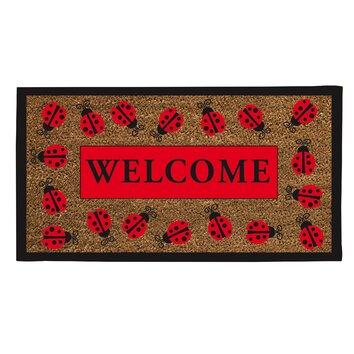 Lady Bug Welcome Doormat Wayfair