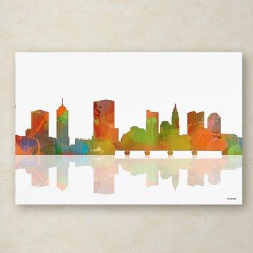 Columbus Ohio Skyline Ii By Marlene Watson Graphic Art On