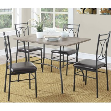 image of a living room dorel living shelby 5 dining set amp reviews wayfair 23138