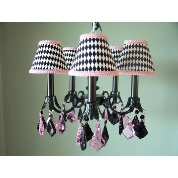 haute harlequin 5 light chandelier wayfair. Black Bedroom Furniture Sets. Home Design Ideas