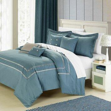 Mandalay Silver 7 Piece Comforter Set Wayfair