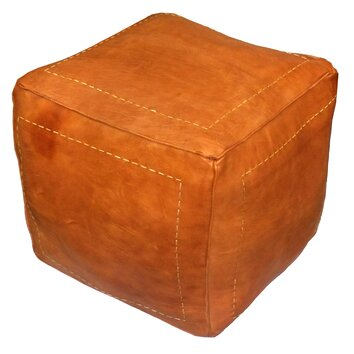new cabinets moroccan leather pouf ottoman wayfair 23731