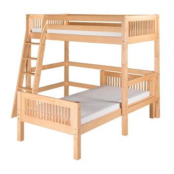 twin l shape bunk bed wayfair. Black Bedroom Furniture Sets. Home Design Ideas