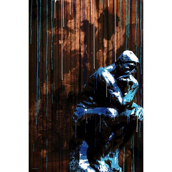 The Thinker Graphic Art On Wrapped Canvas Wayfair