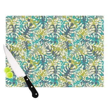 ornate kitchen cabinets tropical leaves by grifol cutting board wayfair 24130