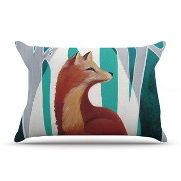 KESS InHouse Fox Forest Pillow Case