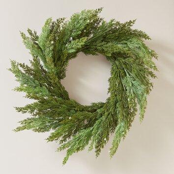 Birch Lane Faux Cedar Wreath Birch Lane
