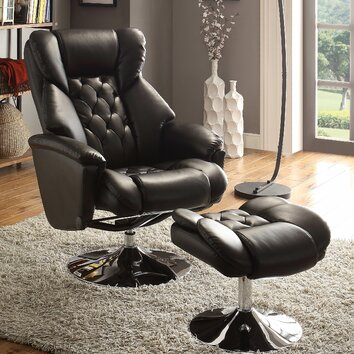 Woodhaven Hill Aleron Swivel Recliner And Ottoman