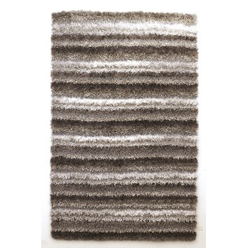 Signature design by ashley white brown striped area rug - Ashley wilkes bedroom collection ...