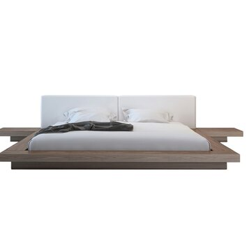 all modern platform bed modloft worth upholstered platform bed allmodern 13998