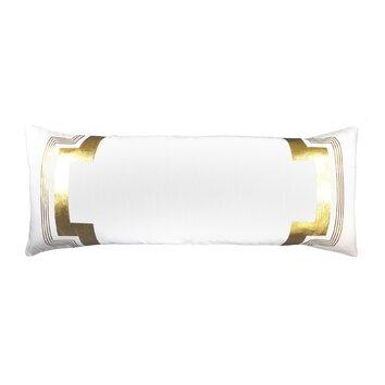 NECTARmodern Embroidered Long Linen Lumbar Pillow AllModern