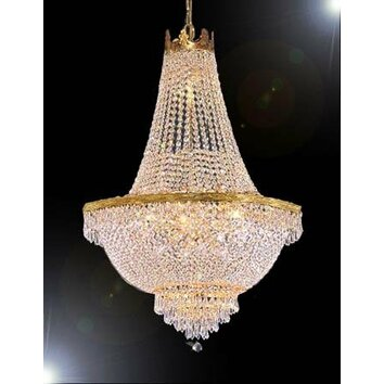 Harrison Lane French Empire 9 Light Crystal Chandelier