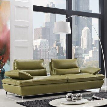 Creative Furniture Naomi Leather Sofa Allmodern