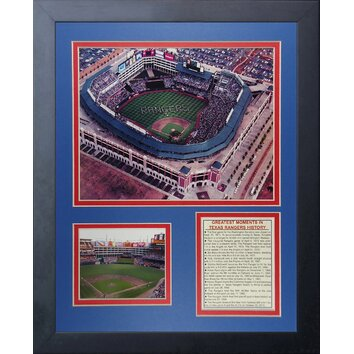 Texas Rangers Ballpark At Arlington Framed Memorabilia