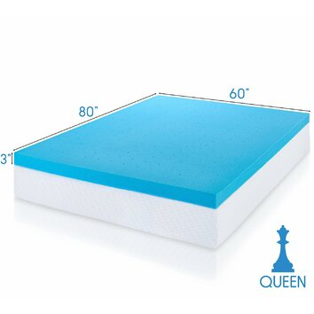 viscosoft cooling gel infused memory foam mattress topper with removable cover reviews wayfair. Black Bedroom Furniture Sets. Home Design Ideas