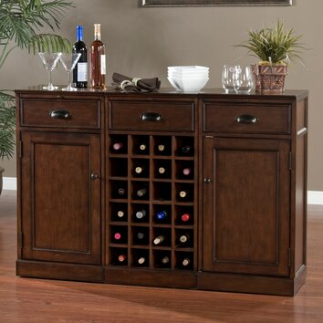 Natalia bar cabinet with wine storage wayfair for Kitchen cabinets 60007