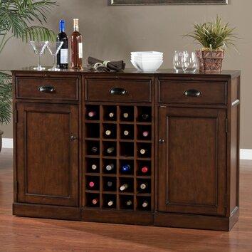 Natalia bar cabinet with wine storage wayfair for Kitchen cabinets 60007