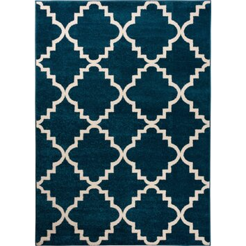 Well Woven Sydney Lulu S Lattice Navy Blue Area Rug