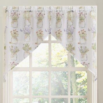Eves Garden Rod Pocket Swag Kitchen Curtains Wayfair