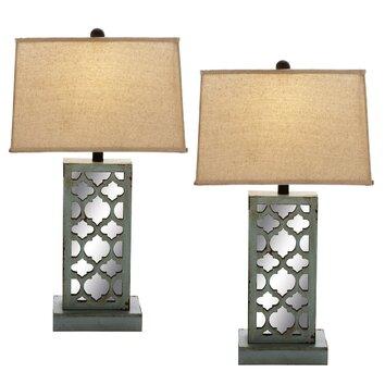 ec world imports urban designs 28 h table lamp with rectangular shade reviews wayfair. Black Bedroom Furniture Sets. Home Design Ideas